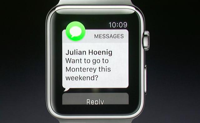 Người dùng có thể đọc và trả lời tin nhắn ngay thông qua Apple Watch