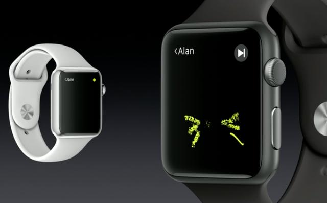 Công nghệ Digital Touch cho phép kết nối các Apple Watch với nhau