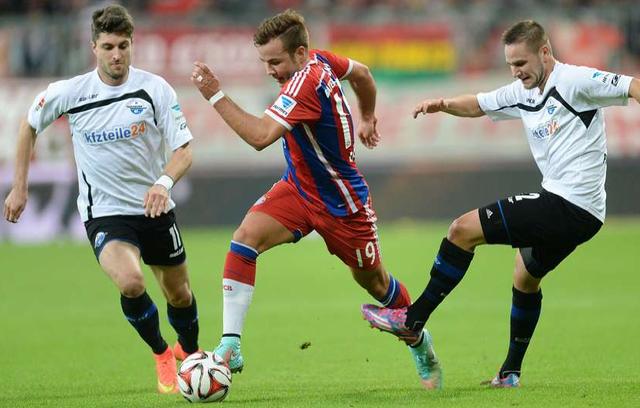 Mario Goetze cũng là một trong những cái tên đã thi đấu rất ấn tượng cho Bayern mùa này. Trận đấu xuất sắc nhất của anh là trận Bayern hạ Paderborn với tỷ số 4-0. Trong đó, tiền vệ người Đức đóng góp 1 cú đúp.