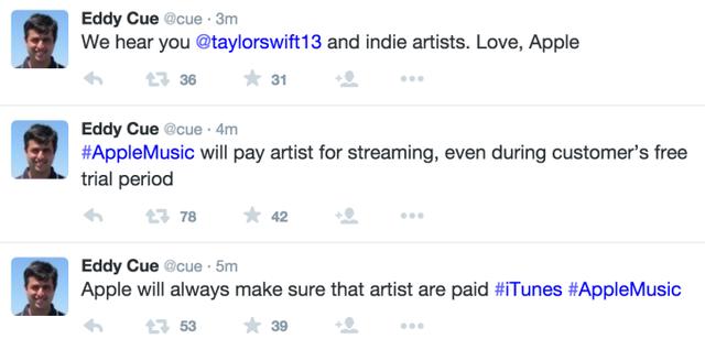 Eddy Cue - Phó Chủ tịch cấp cao của Apple đã lên tiếng đáp lại bức tâm thư của Taylor Swift