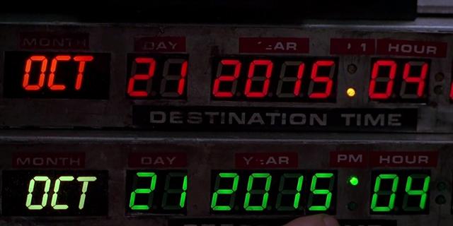 Thời điểm Marty McFly và giáo sư Emmett du hành vượt thời gian tới tương lai