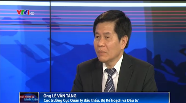Ông Lê Văn Tăng - Cục trưởng Cục Quản lý đầu tư đấu thầu, Bộ Kế hoạch và Đầu tư