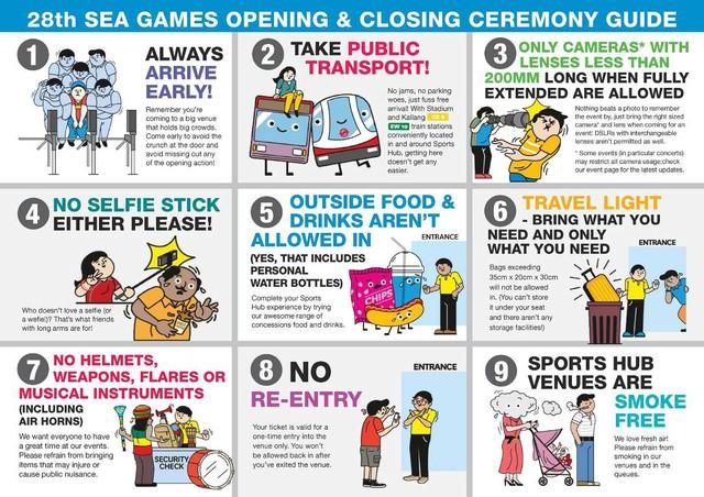 Các quy định đối với khán giả tại SEA Games 28
