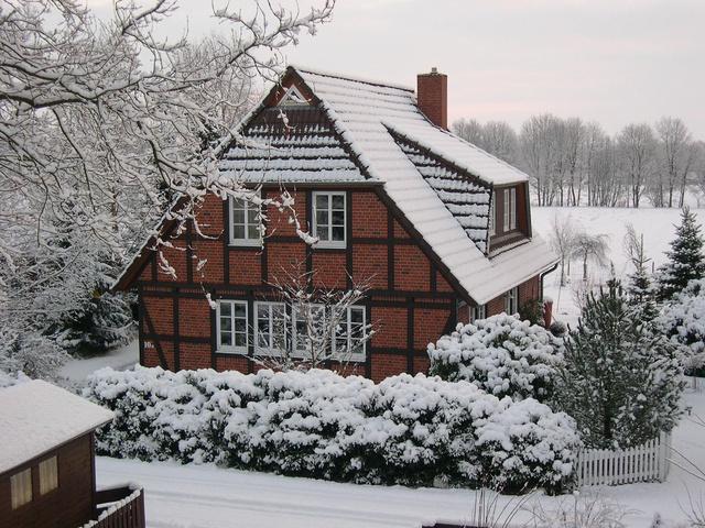 Một ngôi nhà với kiến trúc tiêu biểu của nước Đức