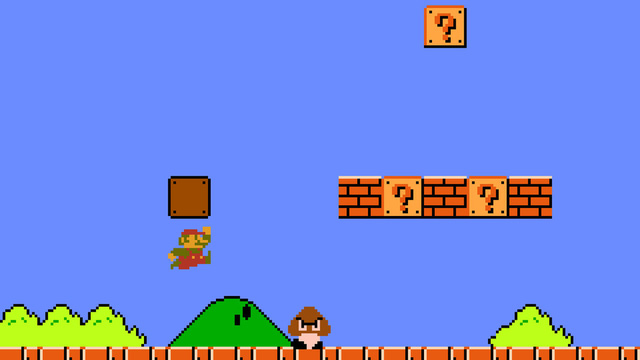 Mario và Goomba - đối thủ đầu tiên trong trò chơi