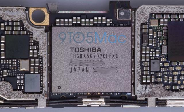 iPhone 6S có thể sẽ vẫn sở hữu bộ nhớ trong Flash với dung lượng 16GB của Toshiba