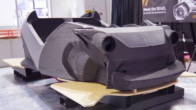 Phần thân xe được in bằng công nghệ 3D