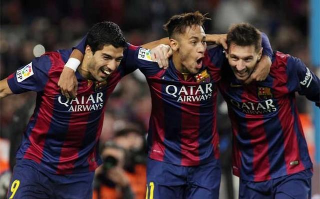 Tam tấu Suarez - Neymar - Messi có sức tấn công khủng khiếp mùa này.