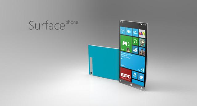 Một mẫu concept Surface Phone dựa trên thiết kế của Lumia