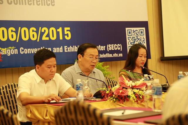 Ông Ngô Hồng Thắng – Phó Giám đốc TVAd, ông Lâm Kiết Tường - Phó Tổng giám đốc VTV và bà Hà Thị Phương Lâm – Giám đốc Công ty Cổ phần Adpex chủ trì buổi họp báo.