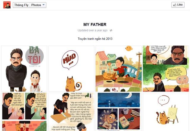 Đường link truyện tranh My Father được chủ tài khoản Thăng Fly đăng tải năm 2013.