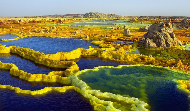 19. Khu vực núi lửa Dallol ở Ethiopia