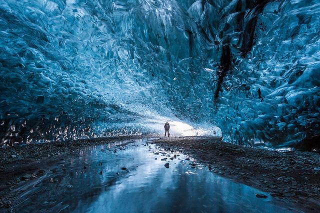 22. Hang băng ở Skaftafell, Iceland