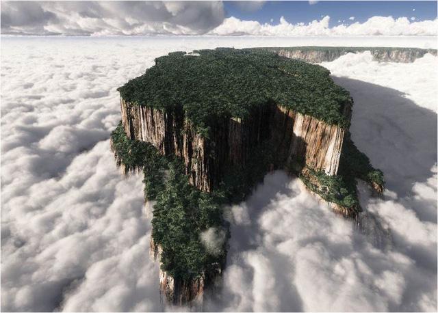 Monte Roraima - mỏm núi đá giữa tầng mây ở Venezuela