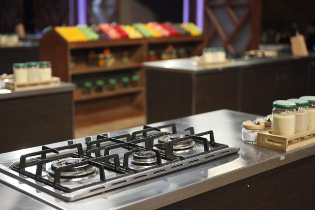 Khu vực nấu của các thí sinh
