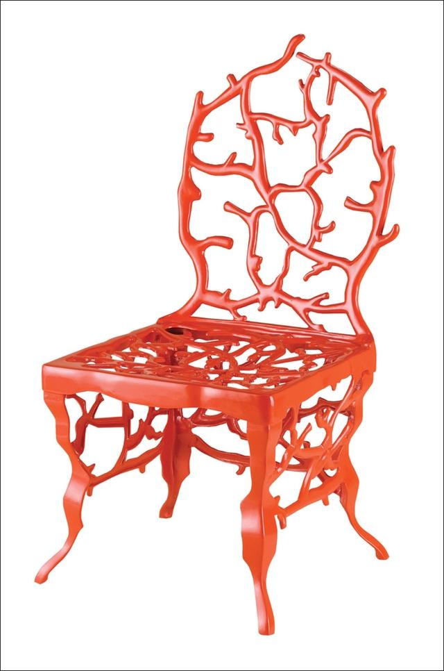 Mẫu ghế mới của Marjorie Skouras cũng được thiết kế với hình ảnh san hô.