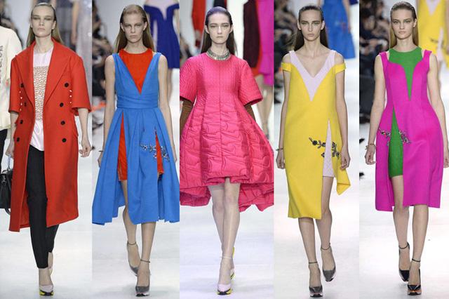 NTK Raf Simons của hãng Dior mang đến BST gồm những sắc màu trẻ trung và tươi tắn.