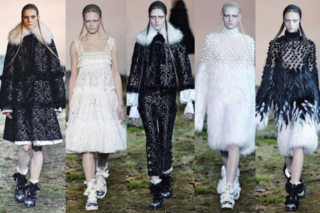 Nhà thiết kế Sarah Burton đã tạo nên dấu ấn cho McQueen với BST mang không khí thần thoại, kết hợp với phong cách Gothic.