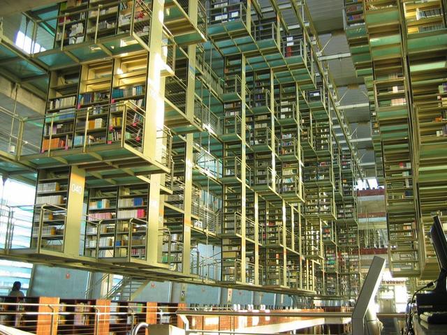 Thư viện Biblioteca Vasconcelos ở Mexico được xây dựng với kiến trúc độc đáo, hiện đại.