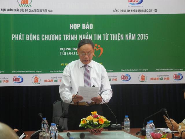 Thượng tướng Nguyễn Văn Rinh phát động chương trinhg nhắn tin từ thiện Chung tay xoa dịu nỗi đau da cam