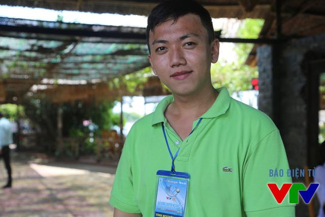 Anh Quang Huy dù không phải là người hâm mộ bóng chuyền nhưng anh cảm thấy rất vinh dự khi Bạc Liêu được trao quyền tổ chức VTV Cup 2015