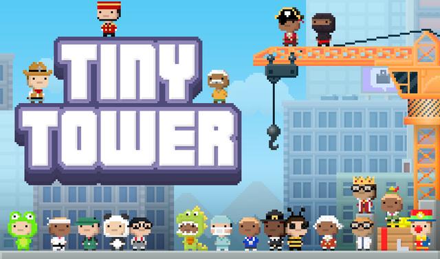 Trò chơi Tiny Tower nổi tiếng trên iOS