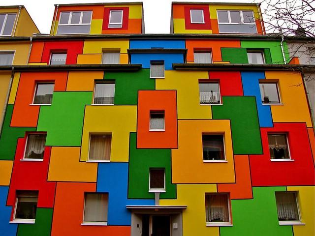 Tòa nhà hình khối ở Cologne (Đức)