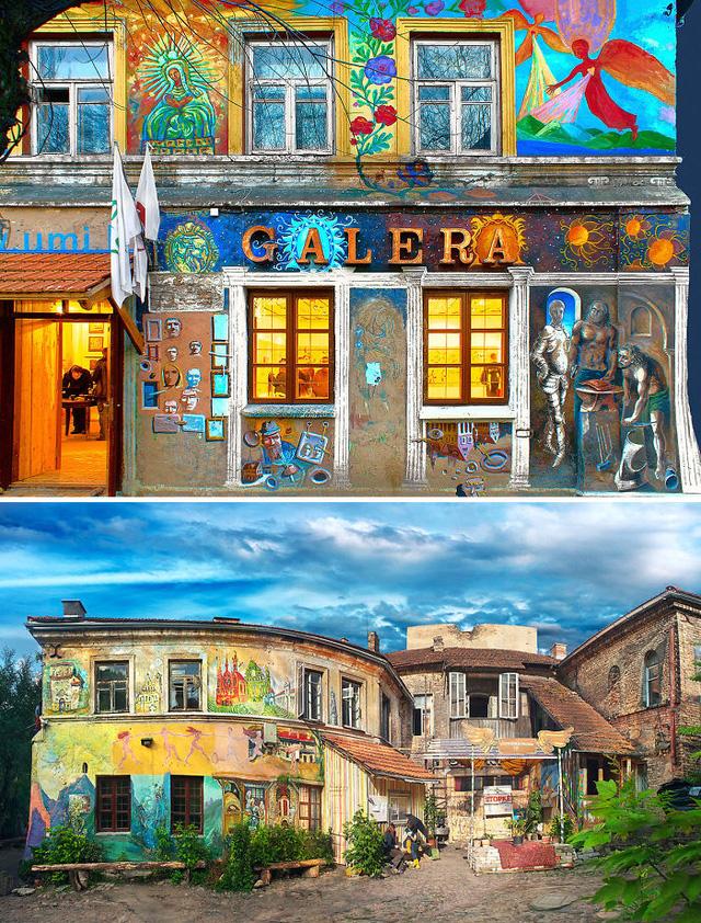 Một ngôi nhà trưng bày các tác phẩm nghệ thuật ở Lithuania