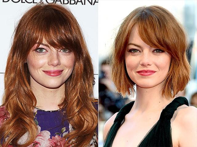 Mái tóc ngắn trông cũng khá phù hợp với Emma Stone, trái ngược với vẻ nhẹ nhàng của cô trong hình ảnh bạn gái Siêu Nhện.