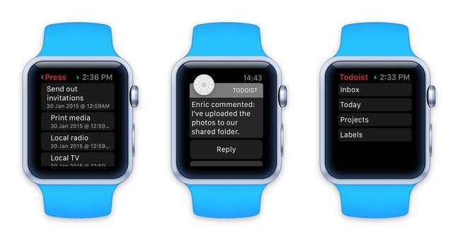 Giao diện của ứng dụng lập kế hoạch trên Apple Watch