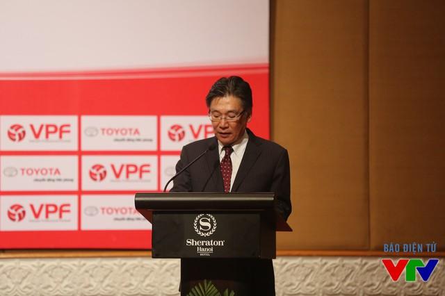 Ông Yoshihisa Maruta – Tổng Giám đốc Công ty Ô tô Toyota Việt Nam phát biểu tại buổi lễ.