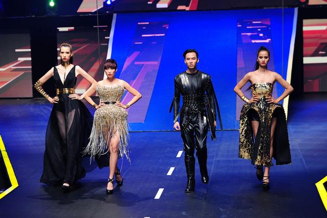 Những hình ảnh đầy tự tin của top 4 Vietnams Next Top Model 2015 trong đêm chung kết tối 11/10