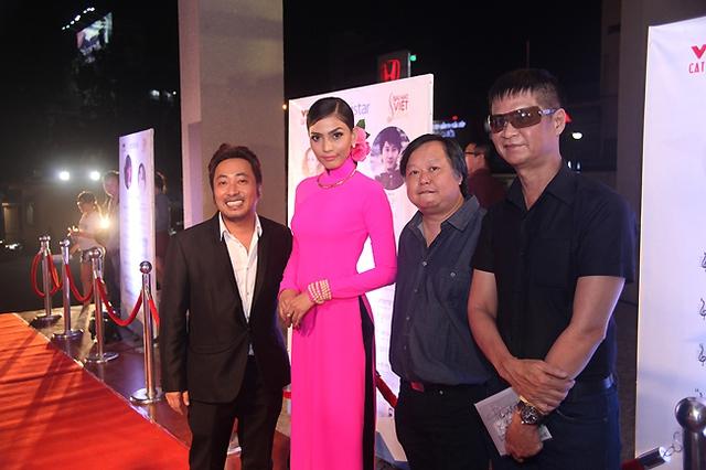 Đạo diễn Quang Dũng, Hoa hậu Trương Thị May, nhạc sĩ Lương Minh và đạo diễn Lê Hoàng.