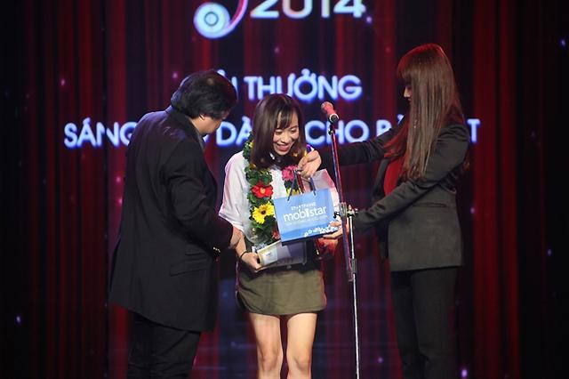 Và chủ nhân của Giải thưởng sáng tạo dành cho bài hát đã thuộc về ca khúc Ngày khát của nữ tác giả Huyền Sambi.