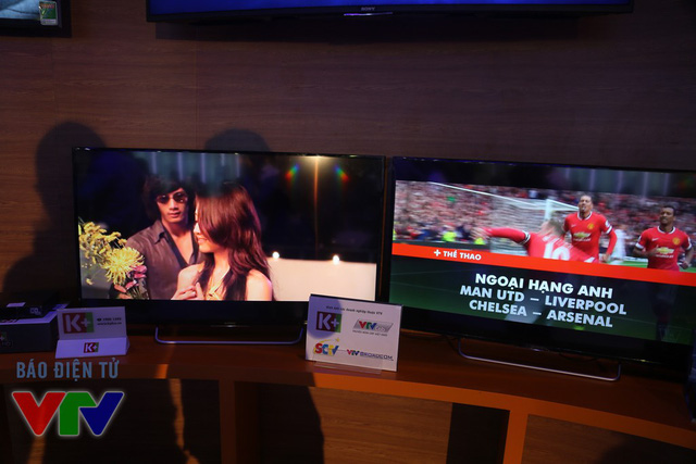 Khu trưng bày của Truyền hình kỹ thuật số vệ tinh Việt Nam (VSTV)