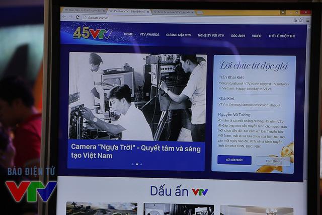 Bên cạnh đó, VTV News cũng giới thiệu chuyên trang kỷ niệm 45 năm VTV (dauan.vtv.vn)