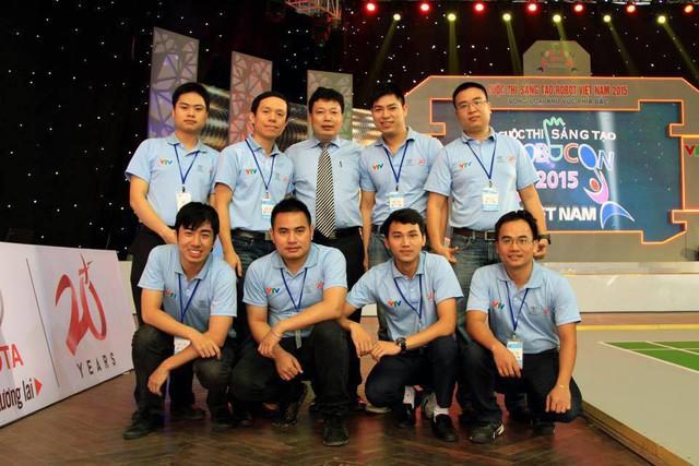 Tổ trọng tài của vòng loại Robocon Việt Nam 2015 khu vực phía Bắc (Nguồn ảnh: Internet)