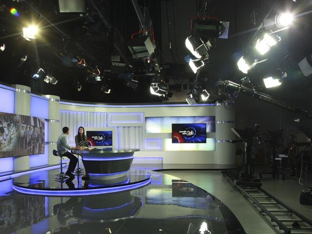 Trường quay hiện đại thực hiện các chương trình phát sóng HD. Ảnh: TT Tư liệu, VTV