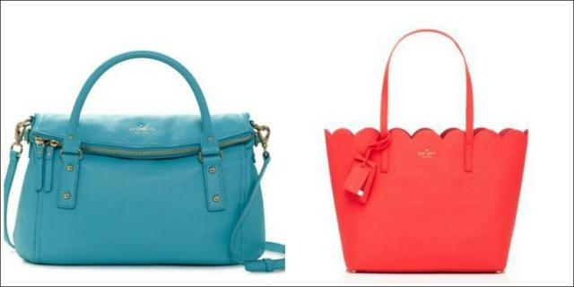 Kate Spade thiết kế nhiều mẫu túi xách có màu sắc tươi sáng, rực rỡ, với giá cả vừa