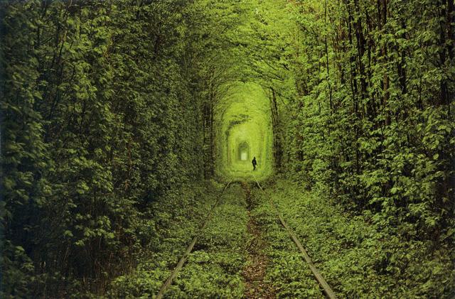 Đường hầm tình yêu ở Klevan, Ukraine