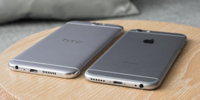 HTC One A9 sở hữu thiết kế gần như giống hệt iPhone 6S