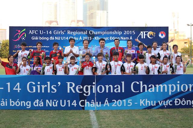 U14 Việt Nam giành ngôi hậu tại giải U14 châu Á - Khu vực Đông Nam Á.