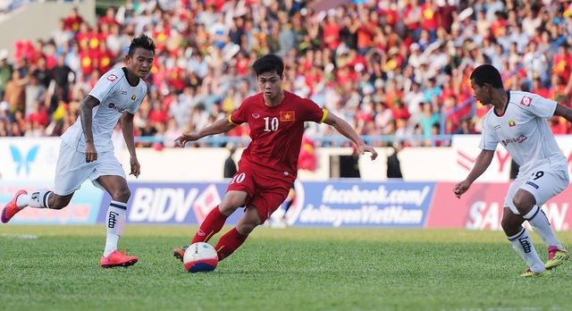 U23 Việt Nam từng bị U23 Myanmar cầm hòa 2-2 tại SVĐ Cẩm Phả (Ảnh: Zing)
