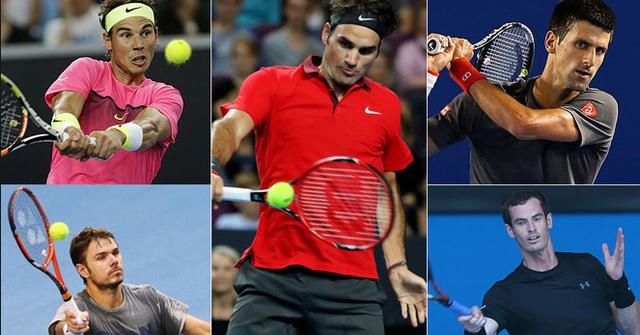 Ai trong số 5 tay vợt trên sẽ giành số tiền thưởng 2,54 triệu USD?