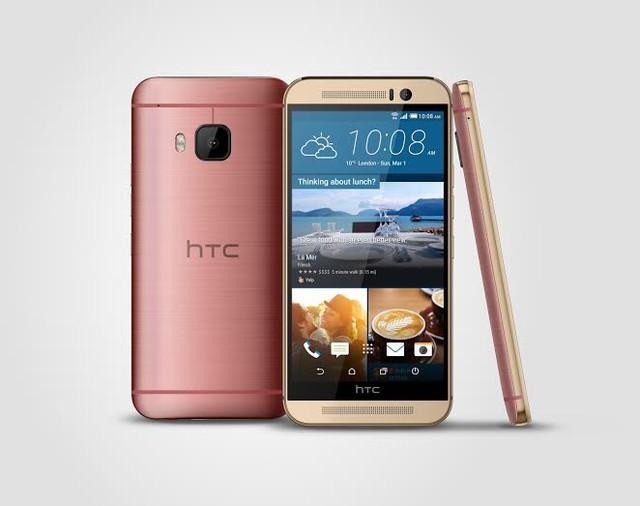 HTC One M9 màu vàng hồng