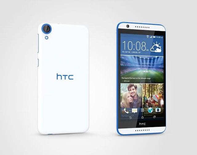 HTC Desire 820q có giá bán lẻ 6.890.000đ với các lựa chọn màu sắc: trắng viền xanh & trắng viền xám.