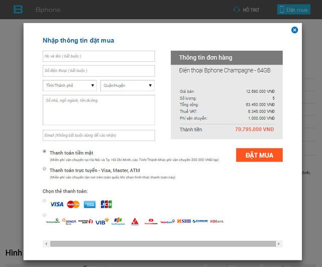 Mức phí vận chuyển lên tới 1.000.000 khi đặt mua 5 sản phẩm với hình thức thanh toán bằng tiền mặt