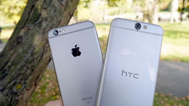 iPhone 6S (trái) và HTC One A9 (phải)