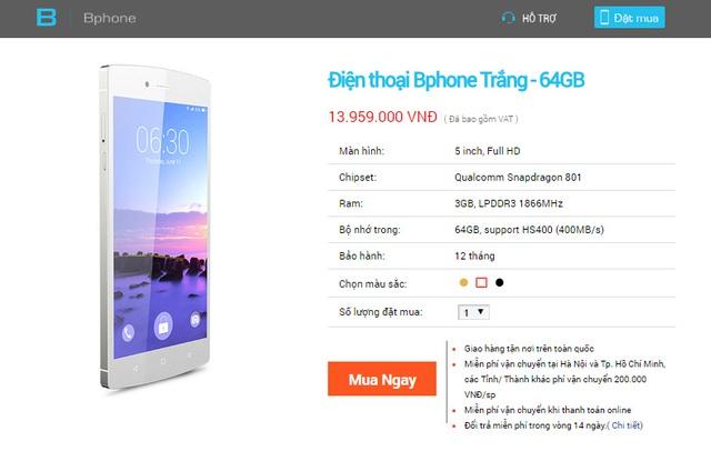 BPhone 64GB phiên bản màu trắng