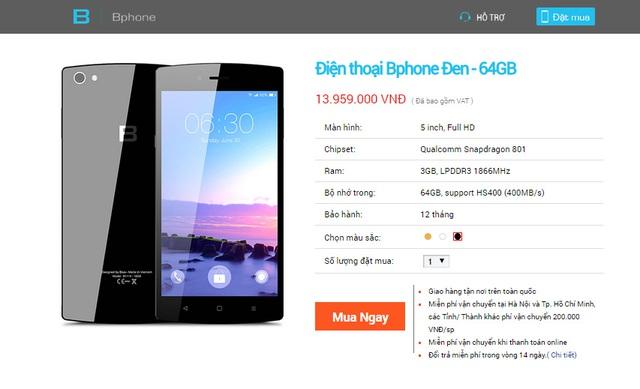 BPhone 64GB phiên bản màu đen